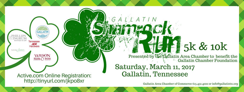 Gallatin Shamrock Run 5K & 10K @ Historic Downtown Gallatin