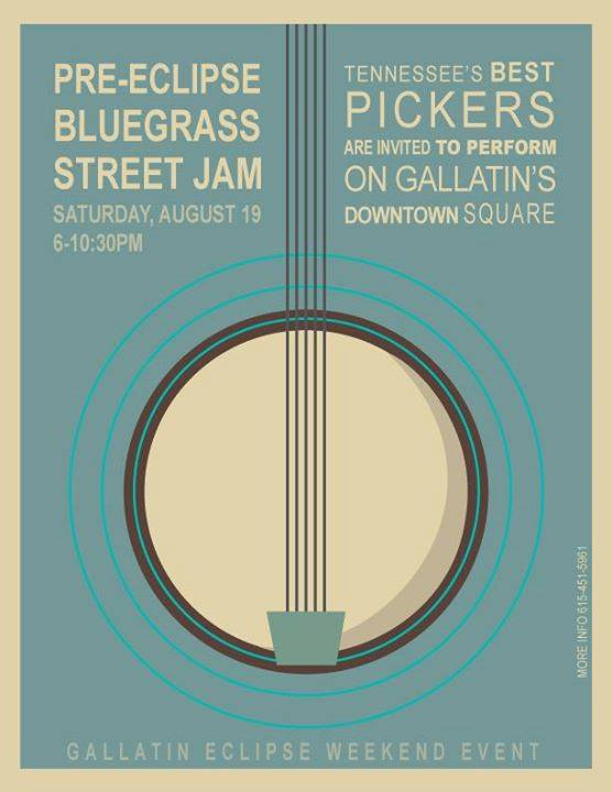 Pre-Eclipse Bluegrass Street Jam @ Gallatin Square | Gallatin | Tennessee | United States