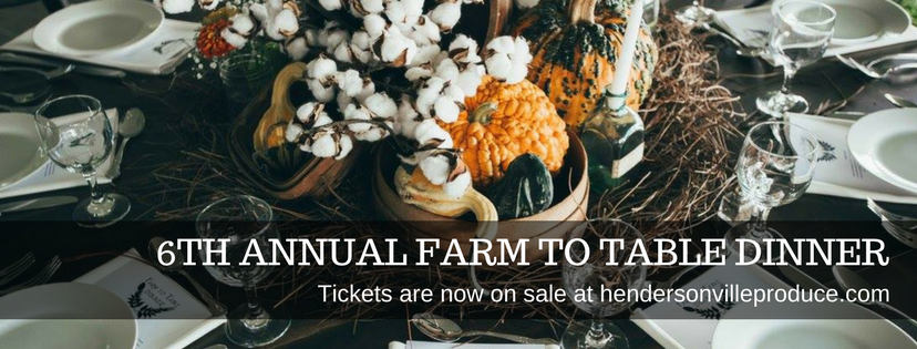Hendersonville Produce Farm to Table Dinner @ Sumner County Tourism House | Gallatin | Tennessee | United States