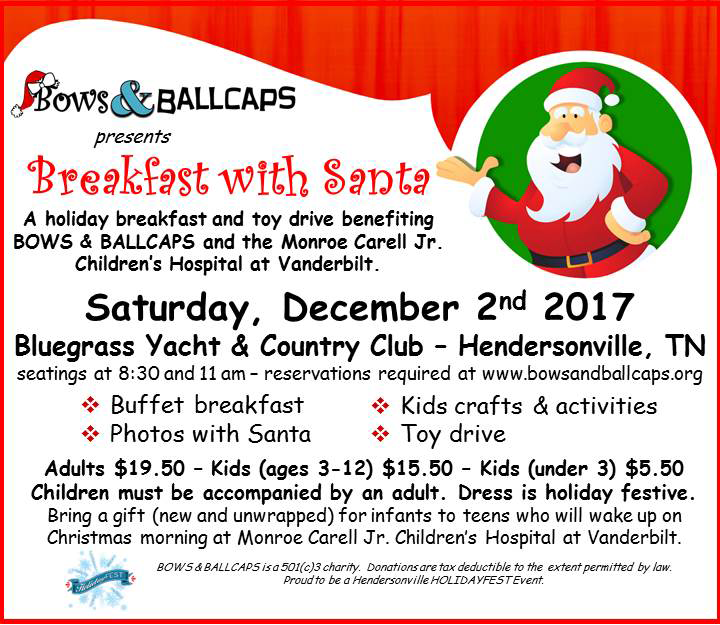 Breakfast With Santa @ Bluegrass Yacht and Country Club | Hendersonville | Tennessee | United States