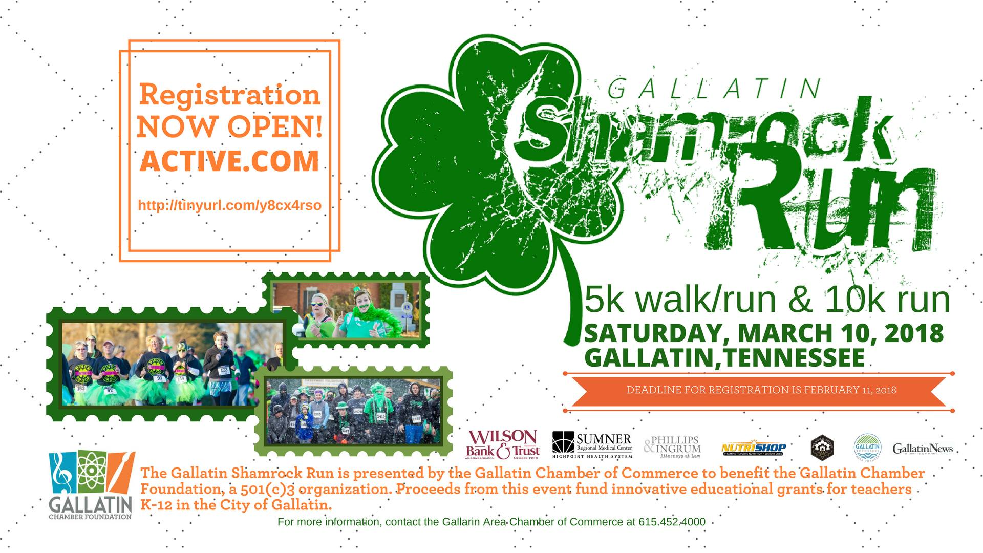 Gallatin Shamrock Run 5k & 10k @ Calvin Short Field